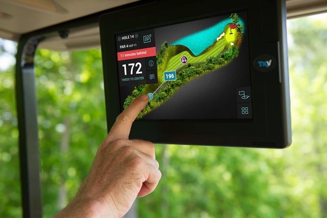 Golfer Hole view