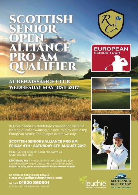 Scottish Senior Open Alliance Pro Am Qualifier at Renaissance Club on Wednesday 31st May 2017